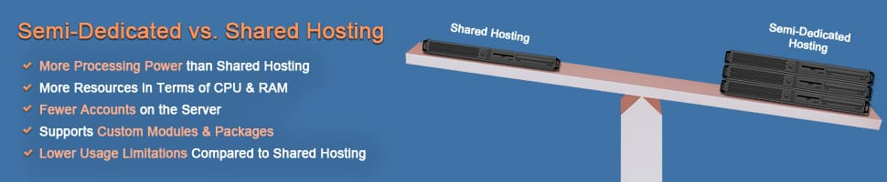 Semi-dedicated hosting  - 2