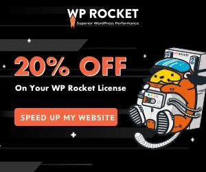 WP Rocket Promo 20% Off